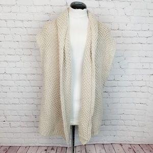 J.jill|Knit Vest Cover-Up Tan Alpaca Blend